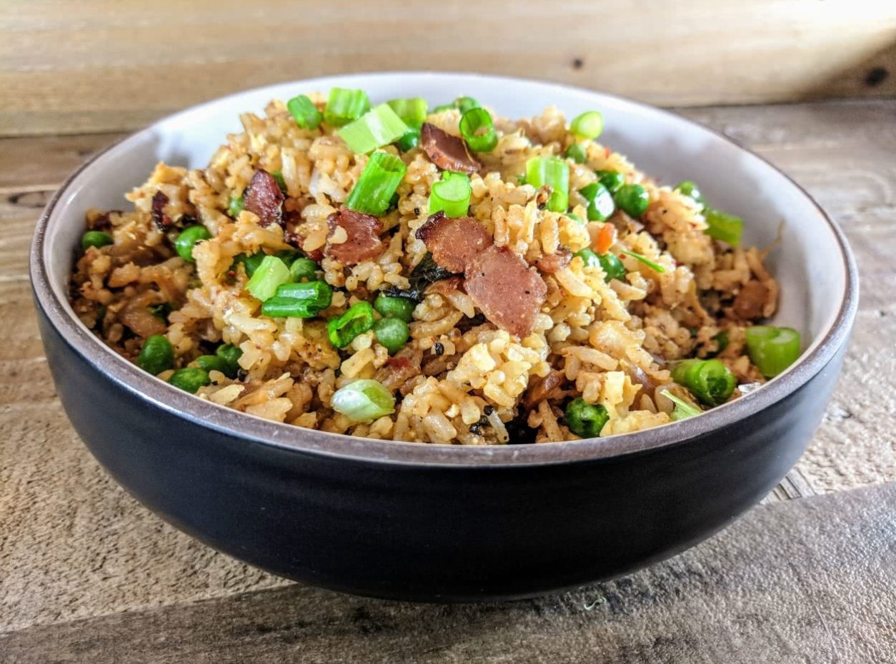 Bacon and Kimchi Fried Rice