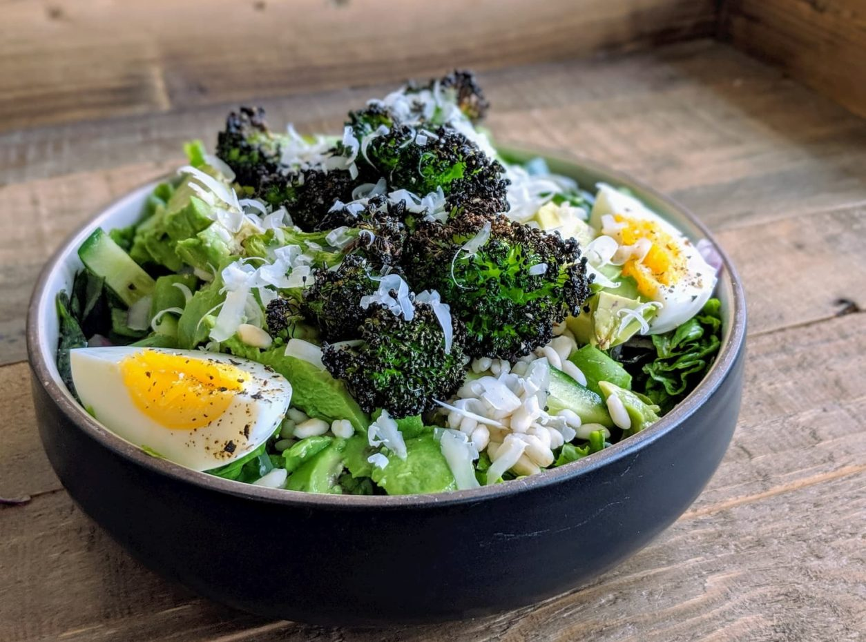 Green Salad With Charred Broccoli And Pearled Barley
