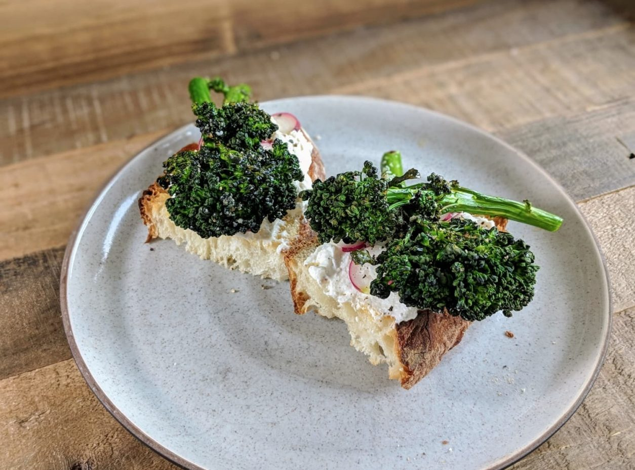 Ricotta Toast With Baby Broccoli